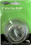 "3"" Wire Cup Brush with 1/4"" Shank - Air Tools - Texas Tire Supplies"