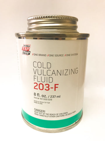 Rema Cold Vulcanizing Fluid 203 (8 oz.) - Tire Repair Patches - Texas Tire Supplies