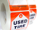 Automotive Tire Label Stickers - Tire Repair Supplies - Texas Tire Supplies