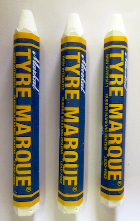 White Tire Crayon (12 per Box) - Tire Repair Supplies - Texas Tire Supplies