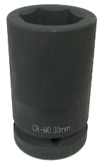 "Deep Socket 1"" Drive 33 mm - Impact Socket - Texas Tire Supplies"
