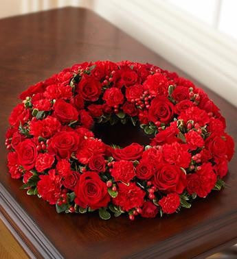 Cremation Wreath - Red