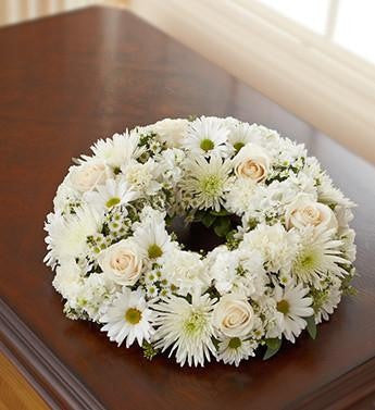 Cremation Wreath - White