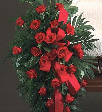 Easel Spray Red Roses