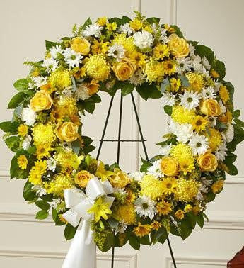 Serene Blessings Standing Wreath Bright - Yellow  FNY-108
