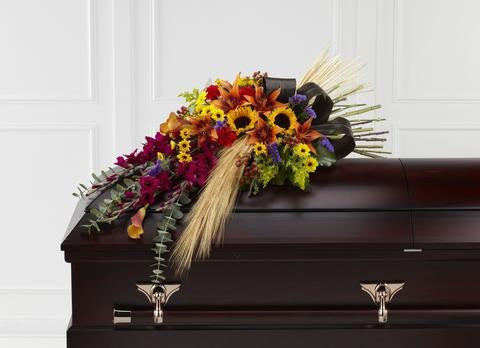 The FTD Glorious Garden Casket Spray (S43-4537)
