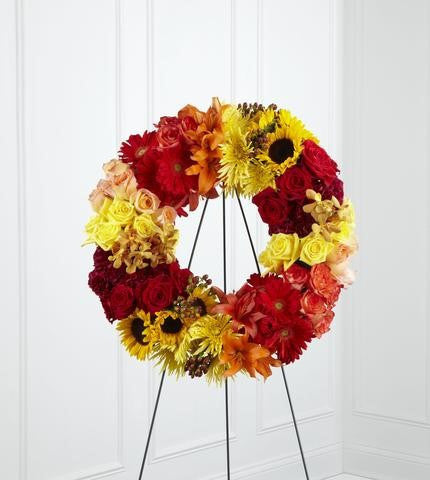The FTD Rural Beauty Wreath (S42-4536)