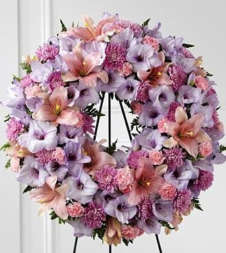 The FTD Sleep in Peace Wreath