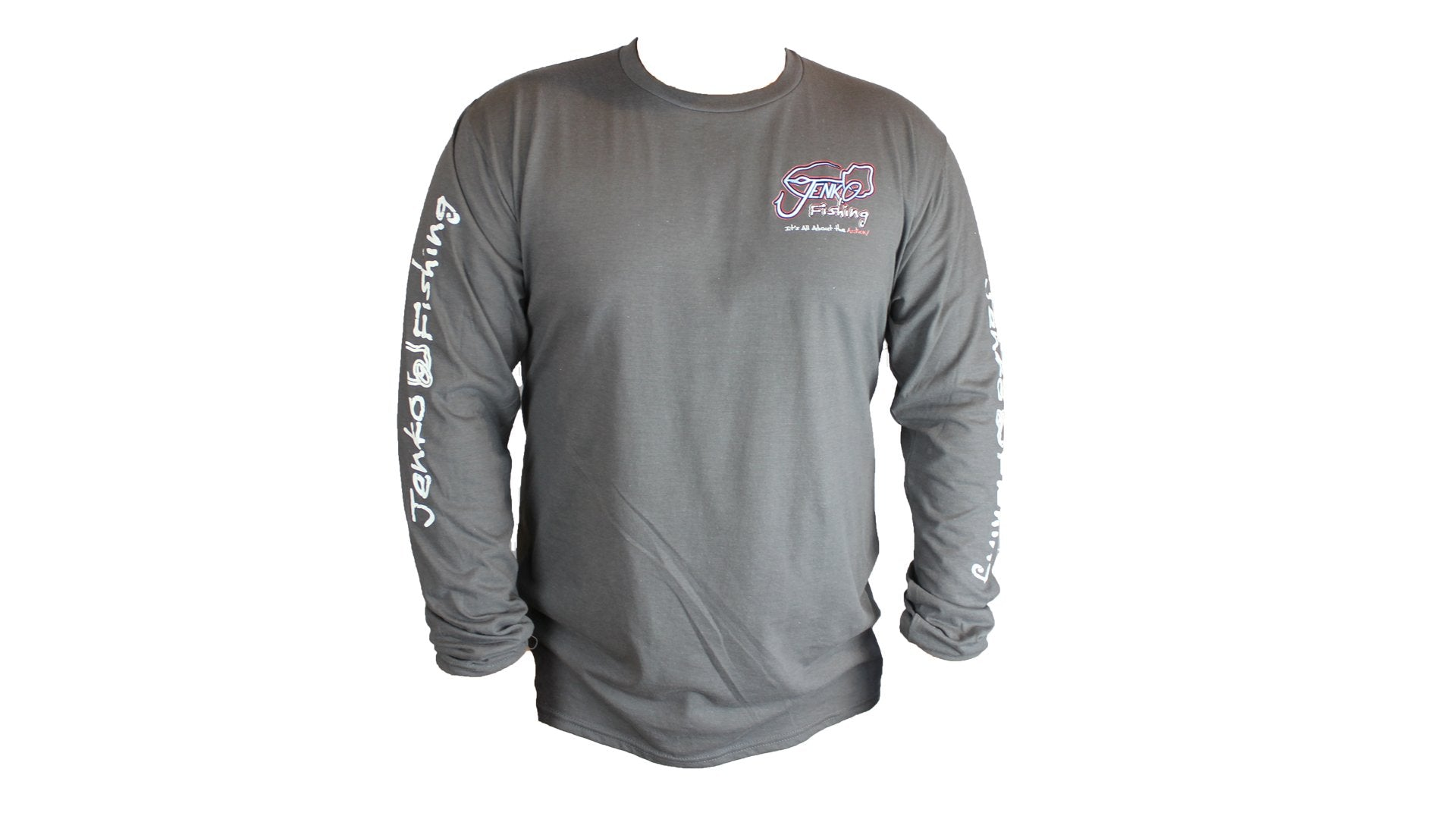 Big T Long Sleeve Charcoal Gray 50/50 T-Shirt