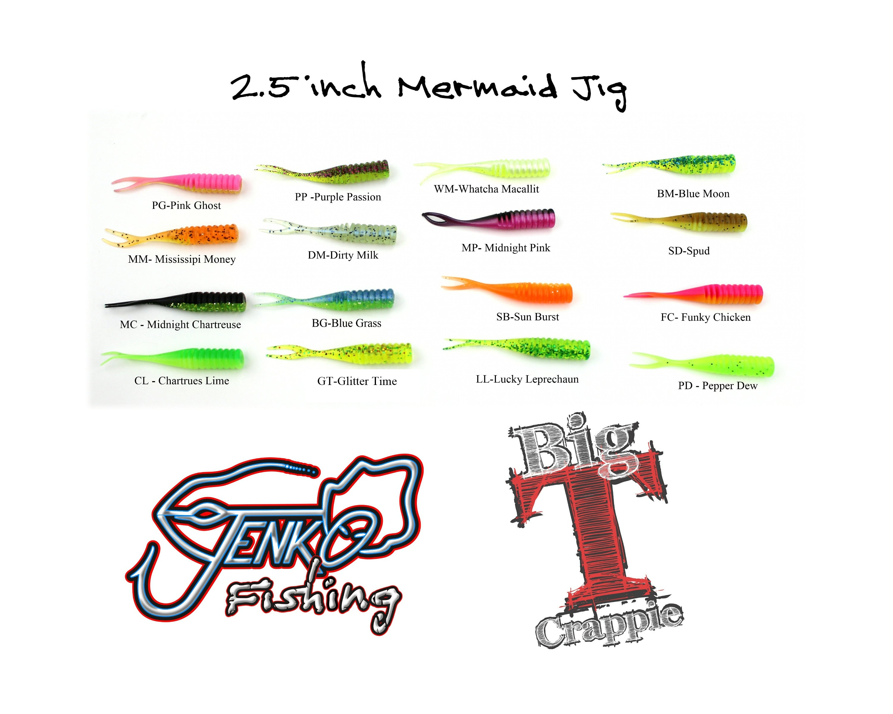 "Mermaid Jig 2.5"" - 15 pack"