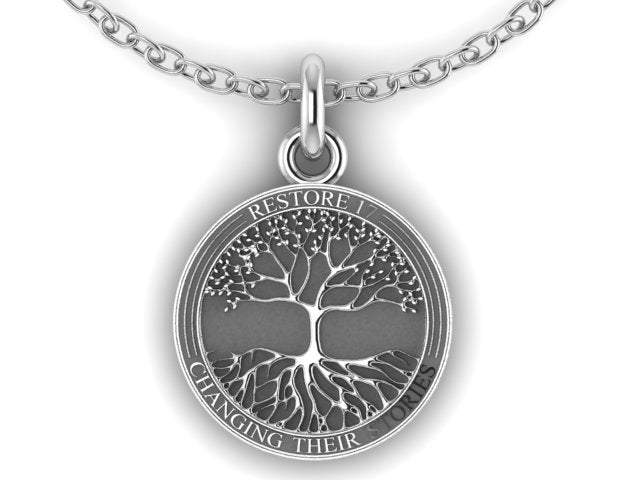 Large Restore17 Tree of Life Necklace