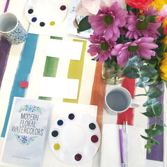 October 2nd Modern Floral Watercolors