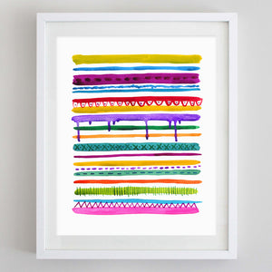 Abstract Color Watercolor Print