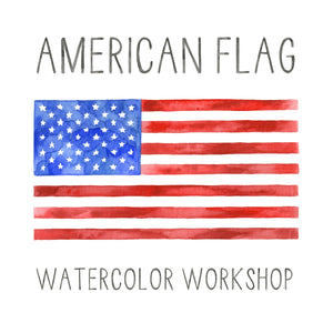 July 1st Watercolor American Flag