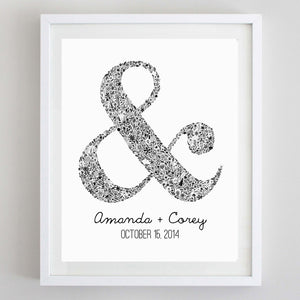 Ampersand Floral Watercolor Print