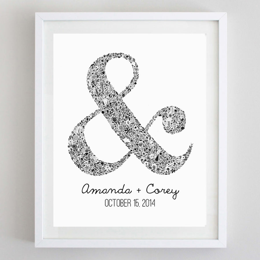art print - ampersand floral watercolor print - carly rae studio