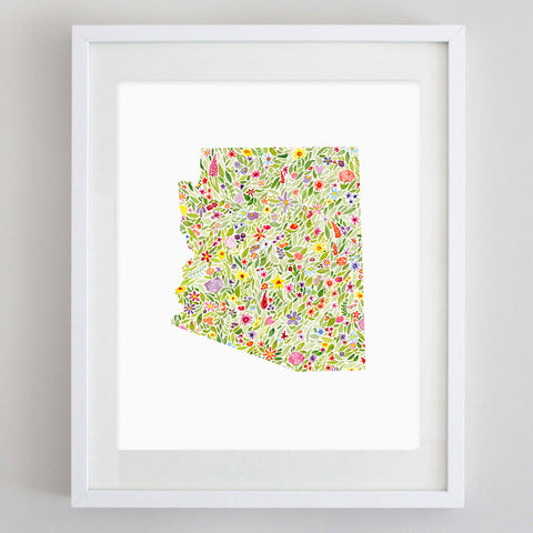 art print - arizona floral watercolor print - carly rae studio
