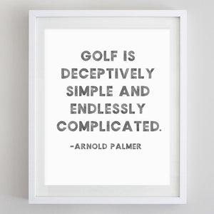 Golf Quote Watercolor Print