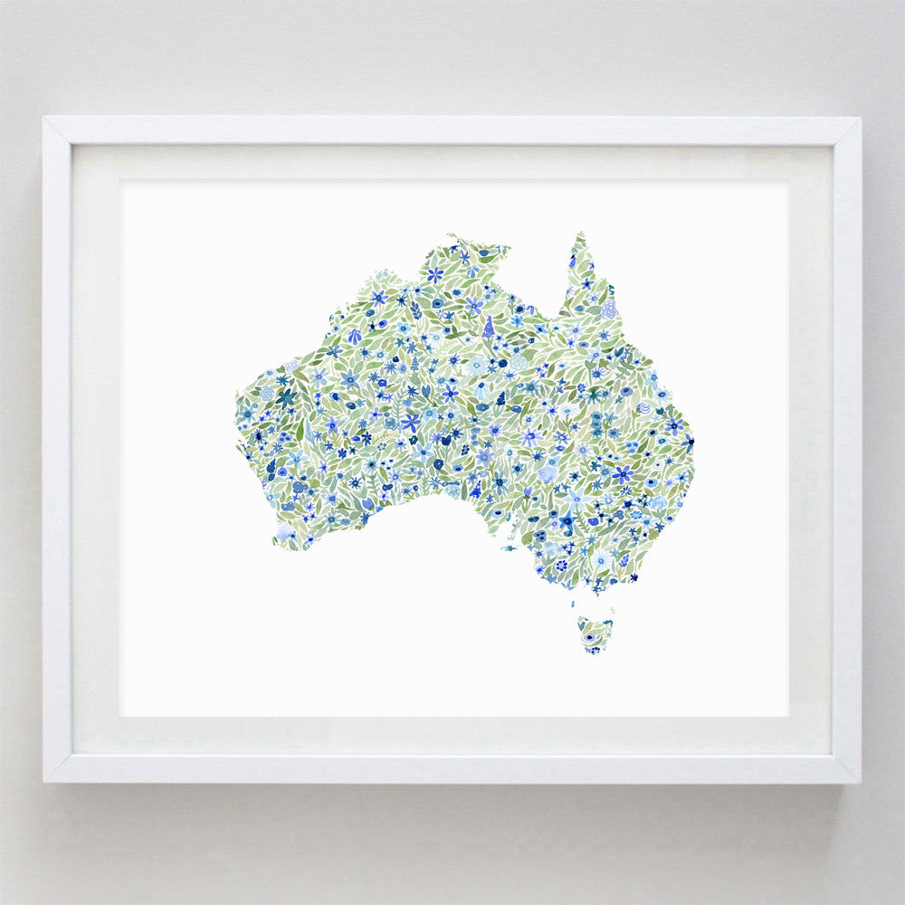 art print - australia floral watercolor print - carly rae studio