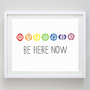Be Here Now Chakra Watercolor Print