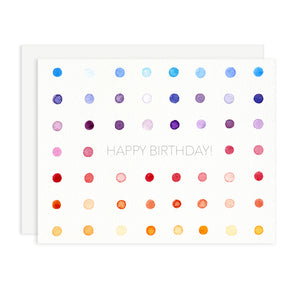 Happy Birthday Polka Dot Greeting Card