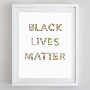 Black Lives Matter Floral Watercolor Print - 100% OF PROCEEDS GO TO THE LOVELAND FOUNDATION