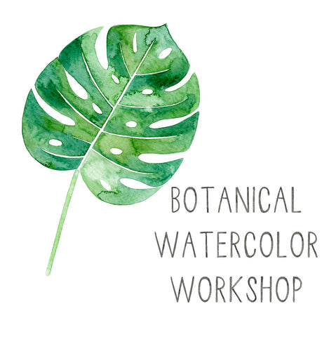 August 22nd Botanical Watercolors