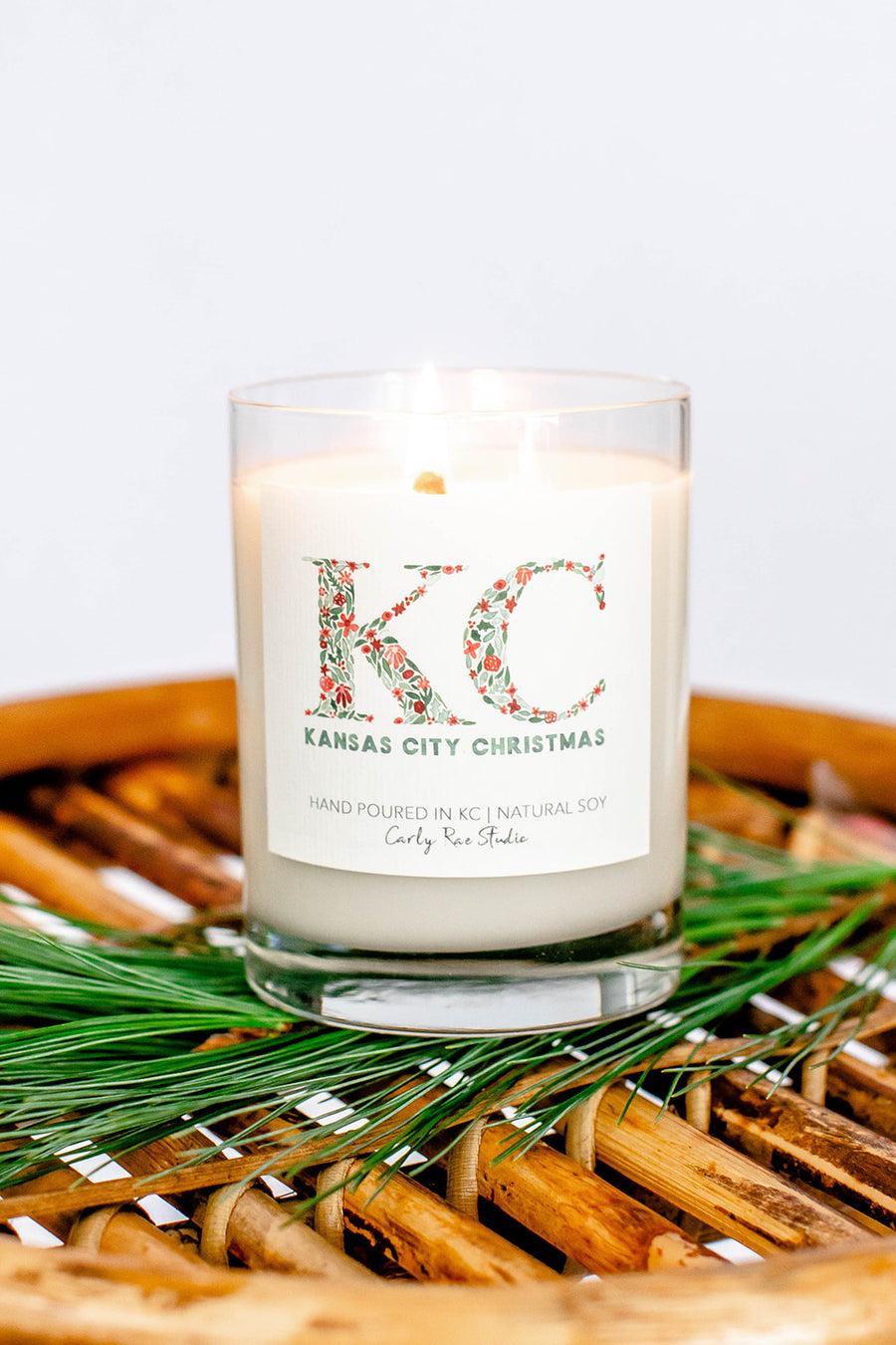 Kansas City Christmas Candle