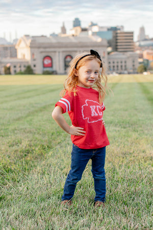 Kids Kansas City Floral Arrowhead Tee