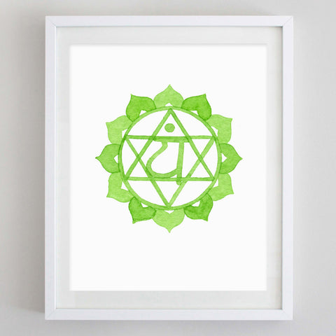 Heart Chakra Watercolor Print