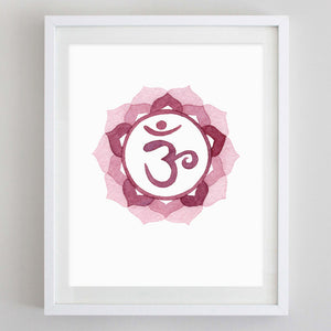Crown Chakra Watercolor Print