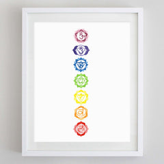 7 Chakras Watercolor Print