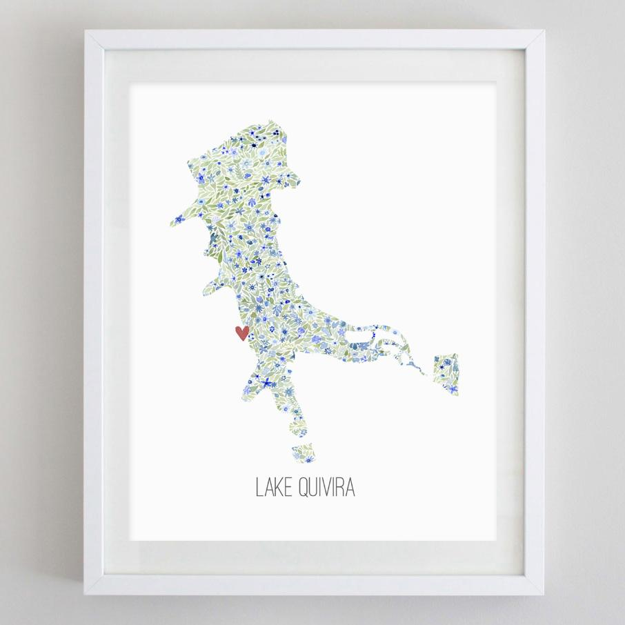 Lake Quivira Watercolor Print