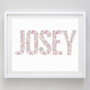 Custom Silhouette or Name Watercolor Print