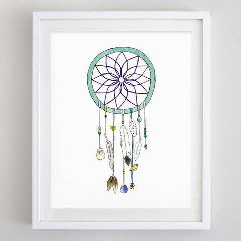 art print - dreamcatcher watercolor print - carly rae studio