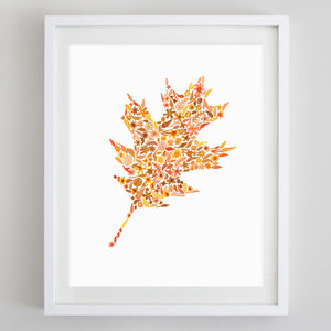 Fall Leaf #3 Floral Watercolor Print