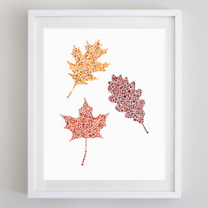 Fall Leaf #1 Floral Watercolor Print