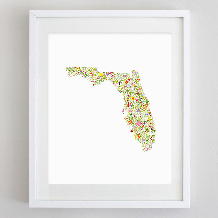 art print - florida floral watercolor print - carly rae studio