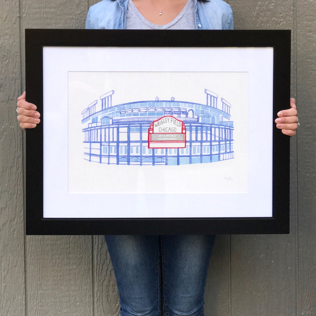 13x19 Matted And Framed Watercolor Print Local Kansas City