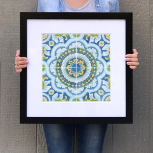Matted and Framed Watercolor Print - Local Kansas City Delivery - 12x12""