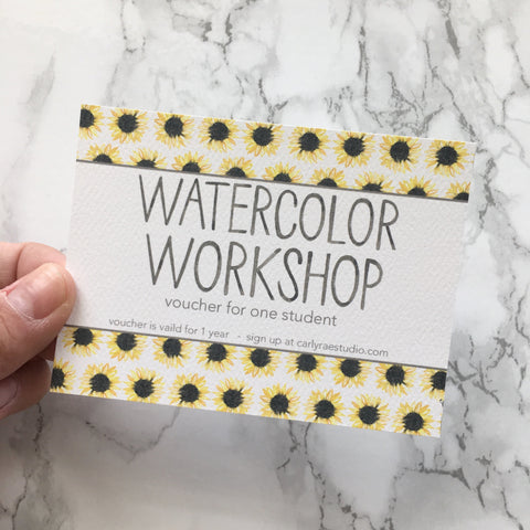 Watercolor Workshop Voucher