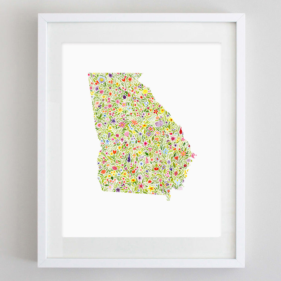 art print - georgia floral watercolor print - carly rae studio