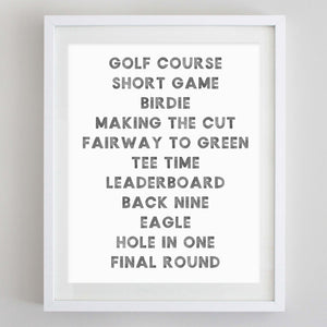 Golf Watercolor Print