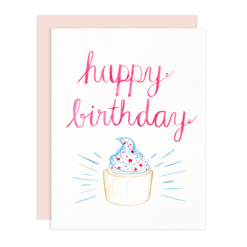 Happy Birthday Cupcake Greeting Card