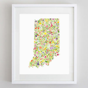 art print - indiana floral watercolor print - carly rae studio