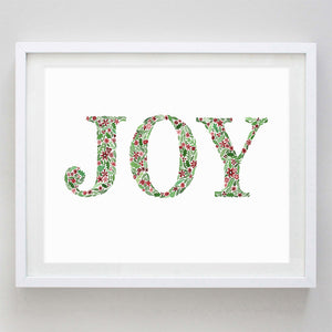 Joy Floral Watercolor Print