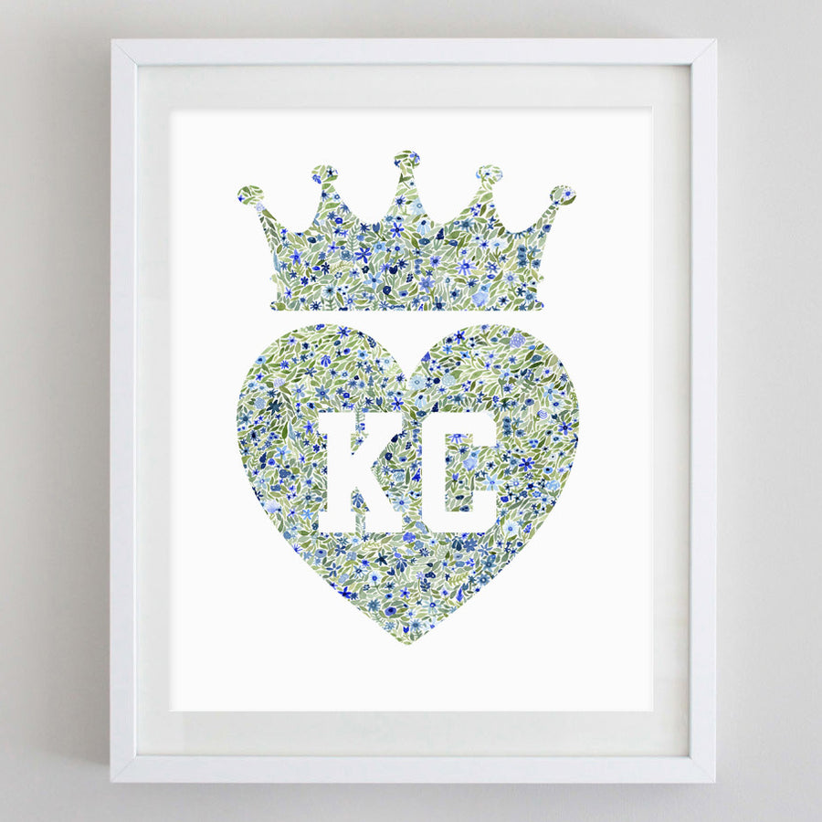 art print - KC crown floral watercolor print - carly rae studio