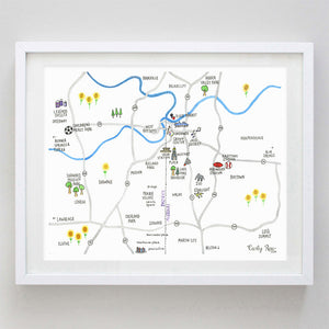 Kansas City Map Watercolor Print