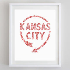 KC Western Auto Sign Watercolor Print