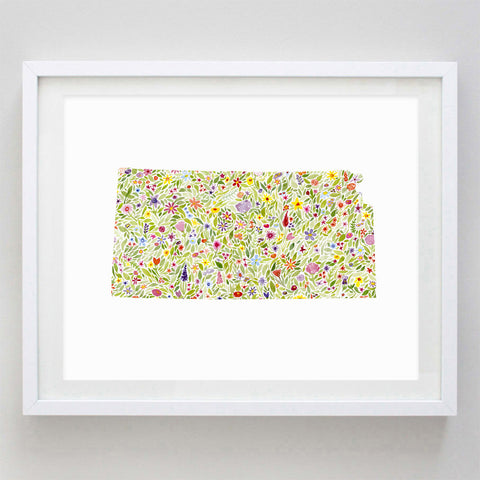 art print - kansas floral watercolor print - carly rae studio